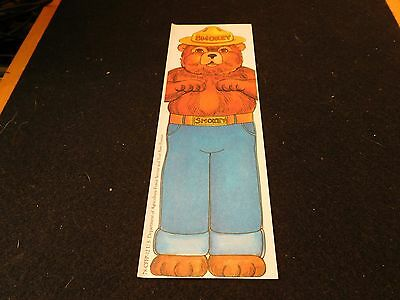 Smokey The Bear 1978 Dept of Agriculture Bookmark
