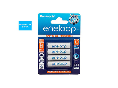 4x Panasonic Eneloop AAA Rechargeable LSD NiMH Batteries - 4th Gen Made in Japan