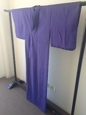 Kimono Vintage Japanese Costume One of a Kind Old Kyoto Hand Made Purple Silk
