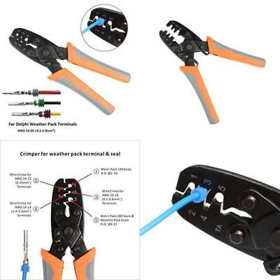 Iwiss Weather Pack Crimper Tools For Crimping Delphi Packard Weather Pack Ter...