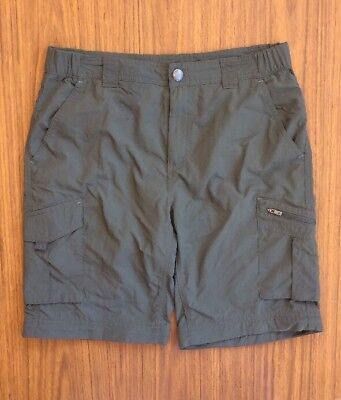 Columbia Sportswear Cargo Shorts Size 30  Polyester Green Outdoor Hiking