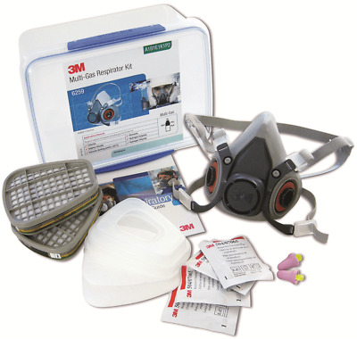 3M MULTI GAS RESPIRATOR STARTER KIT Sealable Storage Container, Size-M*USA Brand
