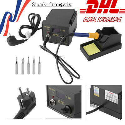 YIHUA 937D+ SMD HOT AIR REWORK STATION WITH SOLDERING IRON 220V-240V 75W Tips XC