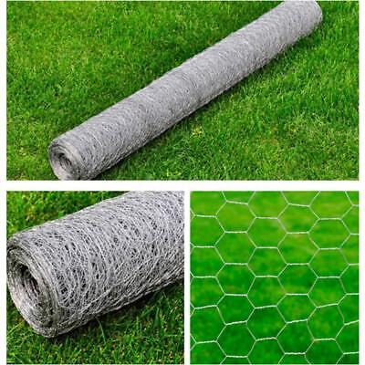 Galvanised Wire Netting Mesh Pet Poultry Fencing Chicken Coop 1x10 m, 0.7mm T7M0
