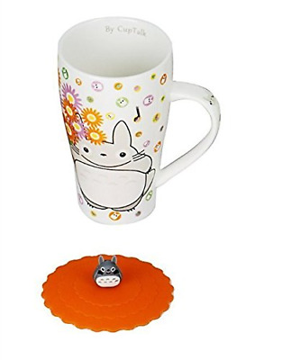Totoro Mug With Silicone Lid (Color White)