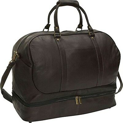 David King and Co. Duffel with Bottom Compartment, Cafe, One Size