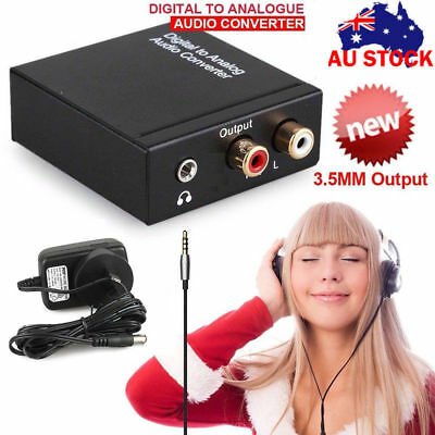 Digital to Analog Audio Converter Optical Coax Coaxial Toslink to RCA RL Adapter