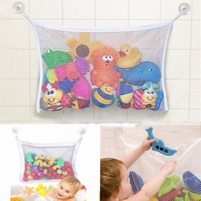 Kids Baby Time Bath Toy Tidy Storage Suction Cup Bag Mesh Bathroom Organiser Net