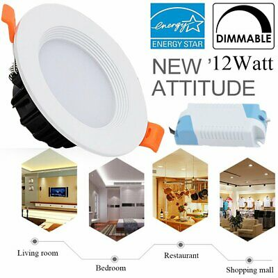 "12W 4"" Dimmable Retrofit LED Recessed Light Downlight *No Housing Can Needed* OY"