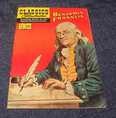 Classics Illustrated #65 A Biography of BENJAMIN FRANKLIN Comic Book HRN 169