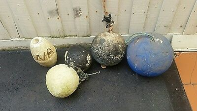 Vintage Fishing net Floats  x 5