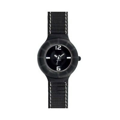 Orologio Hip Hop Leather Pelle, Ref. Hwu0204 Nero