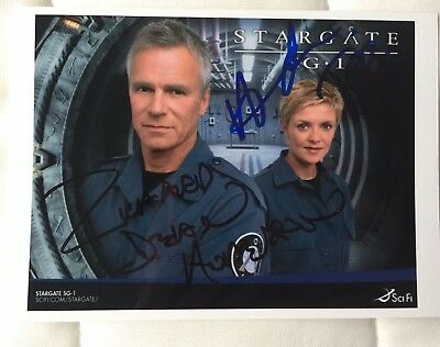 Stargate SG1 - handsigniert - Richard Dean Anderson, Amanda Tapping - Sci-Fi