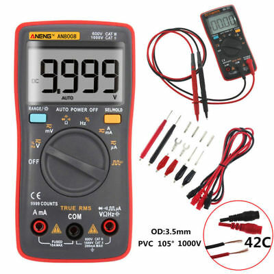 AN8008 RMS Digital Multimeter 9999 Zählt Amperemeter Square Wave Voltage Meter