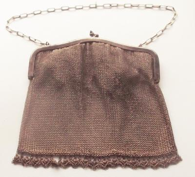1920s LADIES CHAIN LINK EVENING PURSE BAG 18 X 16 CMS    Y35