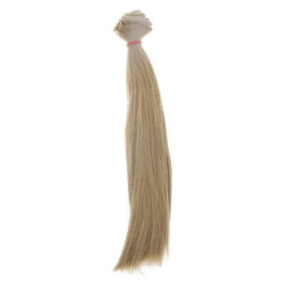 4 Pieces 25x100cm Straight Hair DIY Wig for 1/3 1/4 1/6 BJD SD Barbie Dolls