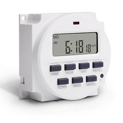 LCD Digital Control Power Programmable Timer Weekly 16A Time Relay Switch RR5