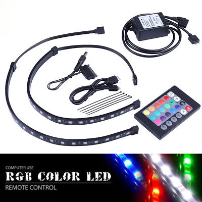 2X30CM RGB light strip(Infrared Controller)for PC Gaming computer case  light