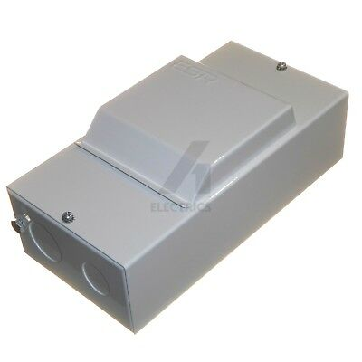 4 Module Metal Enclosure with Lid + DIN Rail and Earth Terminal BSEN61439-3 new