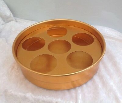 Vintage Retro Gold Anodised Drinks Tray Beer Bar Man Cave