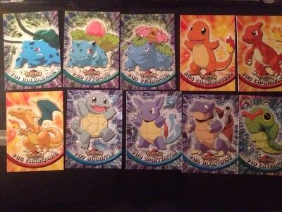 Pokemon Topps Trading Cards Carte 1ª Serie Completa Mint Italiano - No Holo/foil