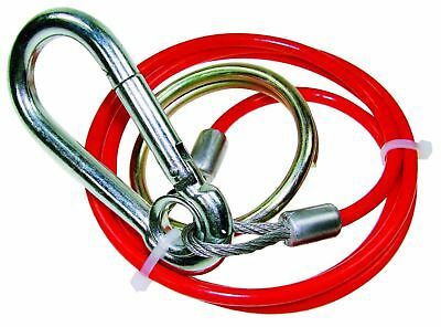 Trailer Breakaway Cable with Split Ring - 1m x 3mm PVC Red