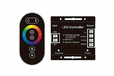RGB LED Strip Controller with RF Touch Remote Control, 12/24DC