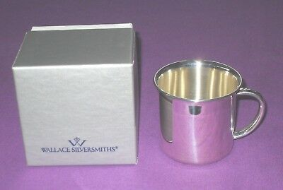 Solid Sterling Silver Baby Christening Cup New & Boxed By Wallace