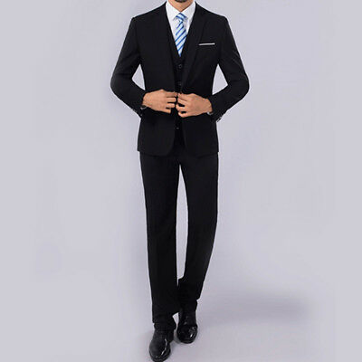 ZL_Men Slim Fit Business Leisure Formal Two-Piece Suit for Groom Wedding Braw