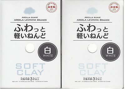 F/S DAISO Soft Clay WHITE 2 pack set butter slime arcilla suave Japan DIY
