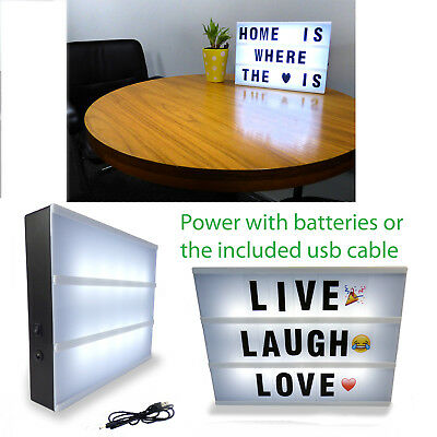 A4 Cinema LED Light Box Enhanced Cinematic Letter Box / Emojis-Letters #E4
