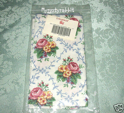 Longaberger 2 Fabric Napkins ~ Mother's Day ~ Floral Scallop - NEW