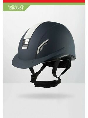 John Whitaker VX2 Sparkly Helmet-Riding Hat-Competition Approved-Navy-Black