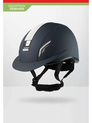 NEW-John Whitaker VX2 Sparkly Helmet-Riding Hat-Competition Approved-Navy-Black