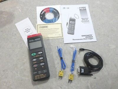 Omega HH306A Temperature Data Logger / Thermometer- Pristine Condition in Box
