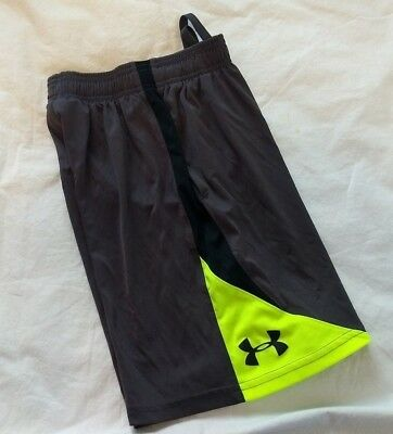 Under Armour Loose Ysm Youth Small Grey/yellow/black Athletic Shorts