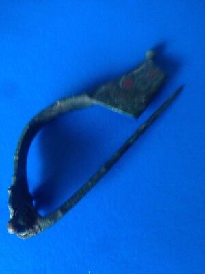 Roman fibula, Antique,French?  bronze/patina.