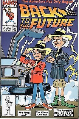 BACK TO THE FUTURE #1 Harvey Comics 1991 NM Movie Tie-in!