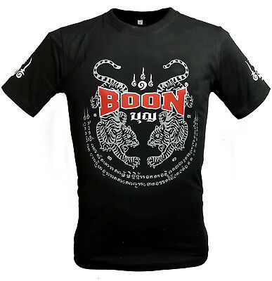 Boon Sport Tiger Black T-Shirt Muay Thai Shirt