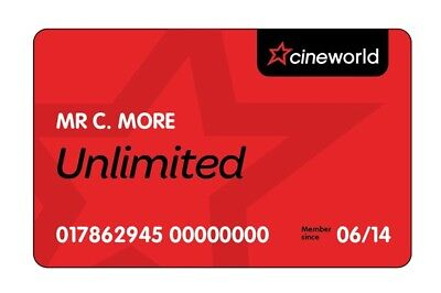 Cineworld Unlimited Card 12 Months + 1 Month Free (RRP £214) E-Code