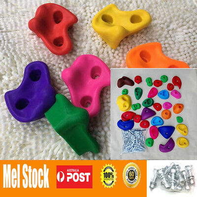 Textured Climbing Rock Wall Stones Holds Hand Feet Kids Assorted Kit Gift