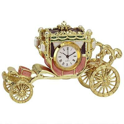 Antique Replica Victorian Dome Desktop Functional Clock Removable Pocket Watch