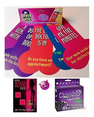 Adult Board Game Bdsm Dice Sexual Toys Door Knobs Nobs Hen Stag Naughty Sex Gift