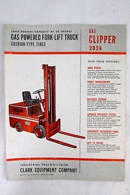 Vintage 1950s Clark Equipment GAS CLIPPER 2024 Forklift Truck Sales Brochure
