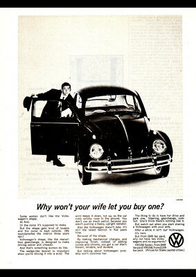 "1962 VOLKSWAGEN BEETLE AD A4 POSTER GLOSS PRINT LAMINATED 11.7""x8.3"""