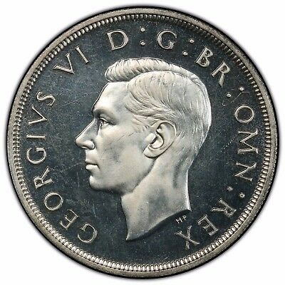 Great Britain George VI PCGS PR64 1937 Crown cameo appeal very PQ for grade
