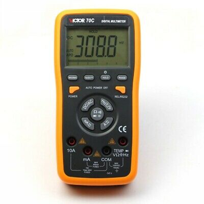 VICTOR 70C 3 5/6 Key Touch Digital Multimeter Autoranging LCD with usb pc connec