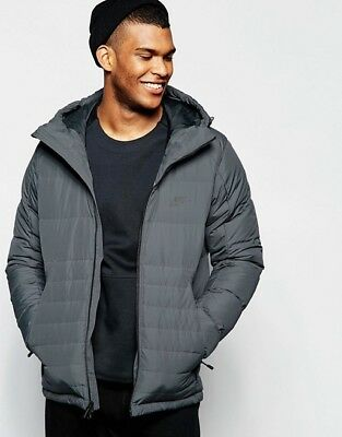 Nike Mens Nsw Av15 Hooded Down Fill Jacket In Gray Winter Jacket