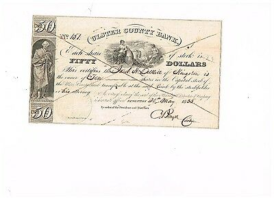 Ulster County Bank, 1835, TOP