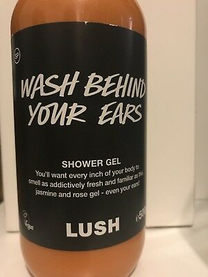 Lush Cosmetics limited edition Wash Behind Your Ears Shower Gel 500g